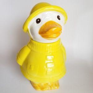 Puddles the Duck Vintage Cookie Jar by Metlox